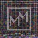 Mosaique noir irisé 15*15 mm