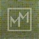 Mosaique vert irisé 15*15 mm