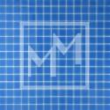 Mosaique bleue lisse 20*20 mm