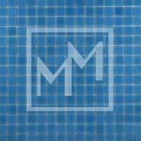 Mosaique bleu ciel lisse 20*20 mm