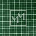 Mosaique vert foncé lisse 20*20 mm