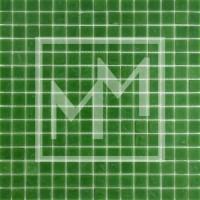 Mosaique vert herbe lisse 20*20 mm