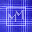 Mosaique haut de gamme bleu foncé lisse 20*20 mm