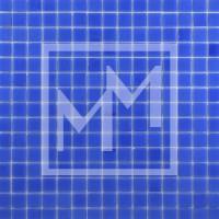 Mosaique haut de gamme bleu lisse 20*20 mm